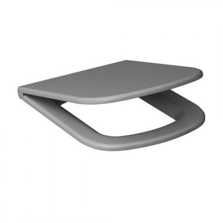 Сидіння для унітазу CERSANIT Colour дюропластове вільнопадаюче сіре