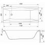 Акрилова ванна CERSANIT Virgo 180x80