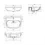 Умивальник меблевий COLOMBO Епіка 65