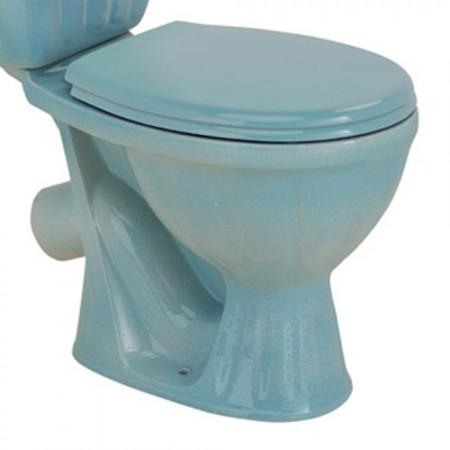 Унітаз COLOMBO Орхідея R з сидінням та кріпленням (біло-голубий)