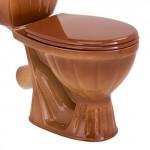 Унітаз COLOMBO Орхідея R з сидінням та кріпленням (бежево-коричневий)