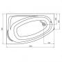 Асиметрична ванна KOLO MYSTERY 150X95 см, ліва