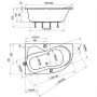 Акрилова ванна RAVAK Rosa 95 160x95 ліва